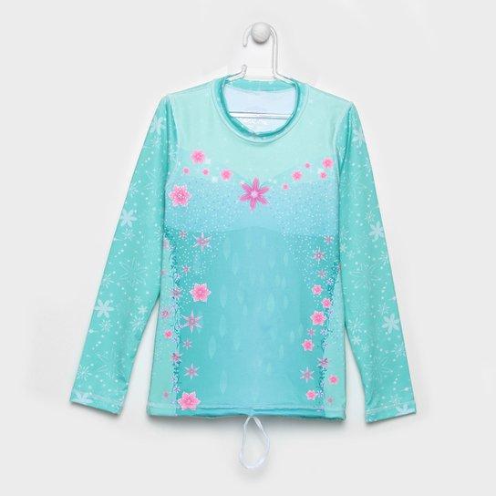 a0e0ea431e Camiseta Infantil Uv.Line Acqua Elza UV 98% FPU 50 Feminina - Verde