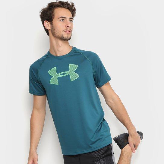 39a0320460708 Camiseta Under Armour Big Logo Masculina - Verde - Compre Agora ...