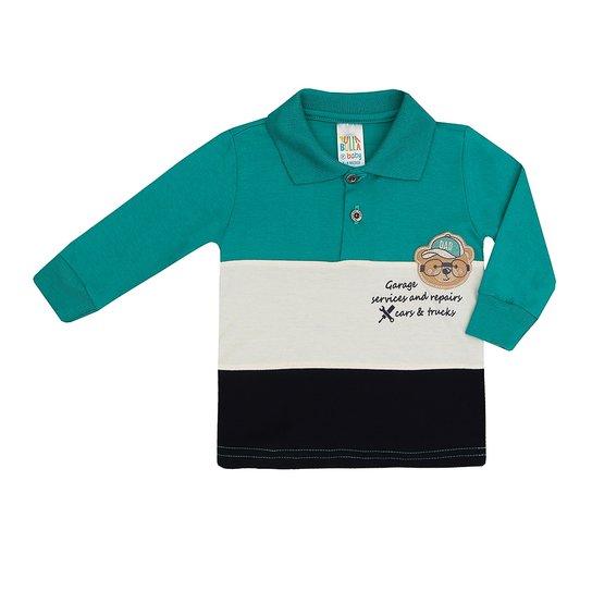 ab86b456c6 Camiseta Polo Manga Longa Infantil Pulla Bulla Masculino - Compre ...