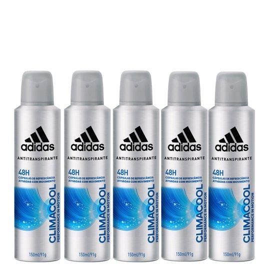 876c5e398 Kit 5 Desodorantes Aerosol Climacool Adidas Masculino - Incolor