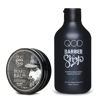 465ea9ee4 Kit QOD Bálsamo para Barba Barber Shop Beard Balm 70ml + Shampoo Barber  Shop 300ml