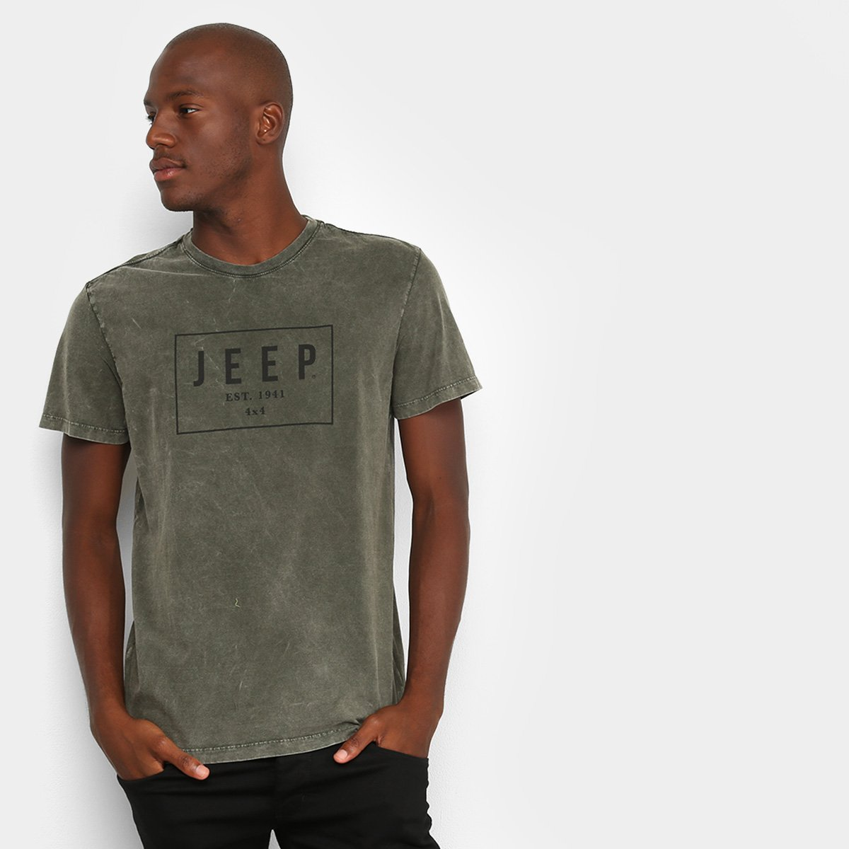 Camiseta Jeep Premium Marmorizada Box Masculina