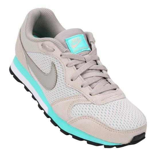 2126164dba7 Tênis Nike Md Runner 2 Feminino - Cinza e Azul Claro - Compre Agora ...
