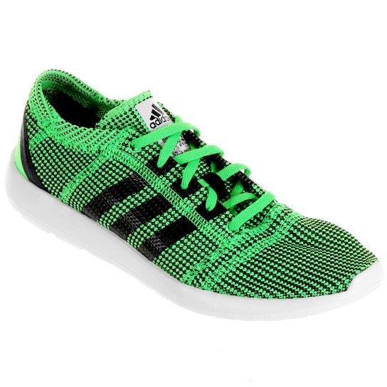 8bebaa0a3c4d6 Tênis Adidas Refine Tricot 2 - Verde Limão+Preto