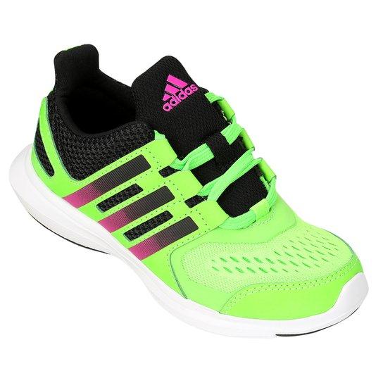 e263fd8d7d9 Tênis Adidas Fb Hyperfast 20 K Infantil - Verde Limão+Preto
