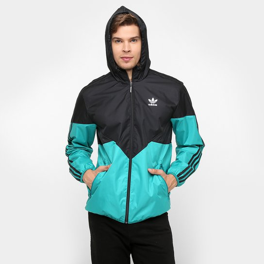 da09235f4e5 Jaqueta Adidas Colorado Camo c  Capuz - Preto+Verde Água