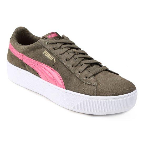 Tênis Puma Vikky Platform Feminino - Musgo - Compre Agora  7f88d73c72779