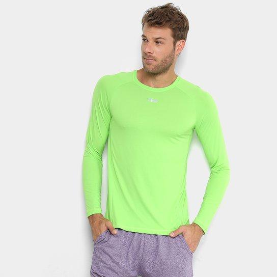93773c13e77a Camiseta Fila Bio Manga Longa Masculina - Verde | Zattini