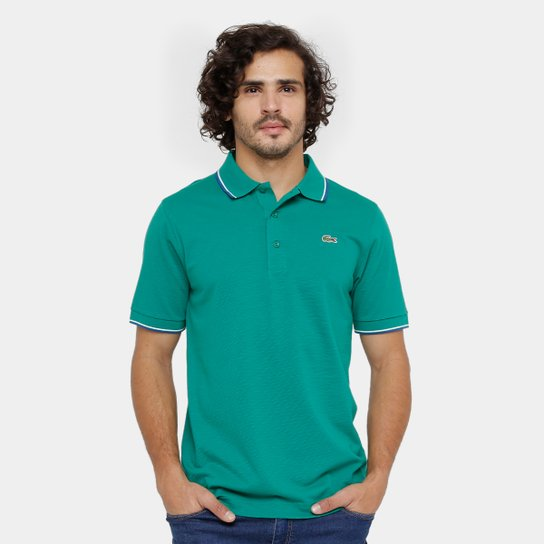 Camisa Polo Lacoste Bordada Masculina - Verde - Compre Agora   Zattini 74703672f6