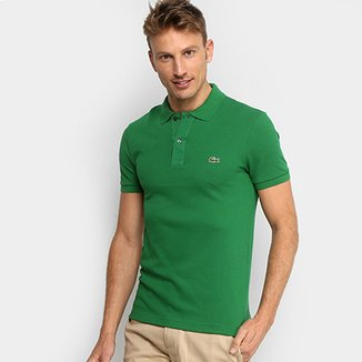 Camisa Polo Lacoste Piquet Slim Fit Masculina 8e8319af26