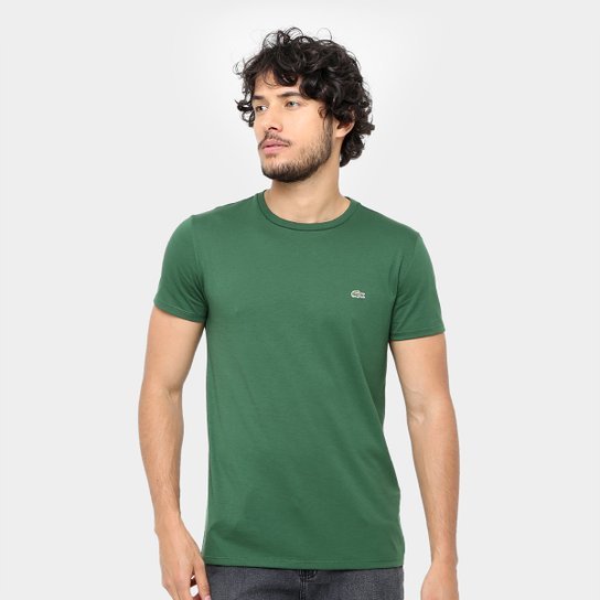 c1b057f29b2 Camiseta Lacoste Básica Jersey Masculina - Verde - Compre Agora ...