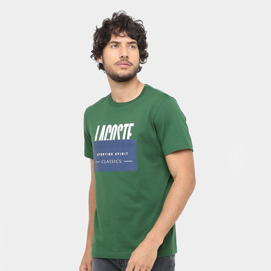 487db183d Camiseta Lacoste Fancy Regular Fit Masculina - Compre Agora