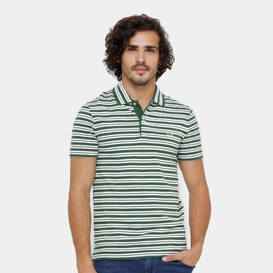 601ce4a9ea3 Camisa Polo Lacoste Piquet Regular Fit Listras Masculina - Compre ...