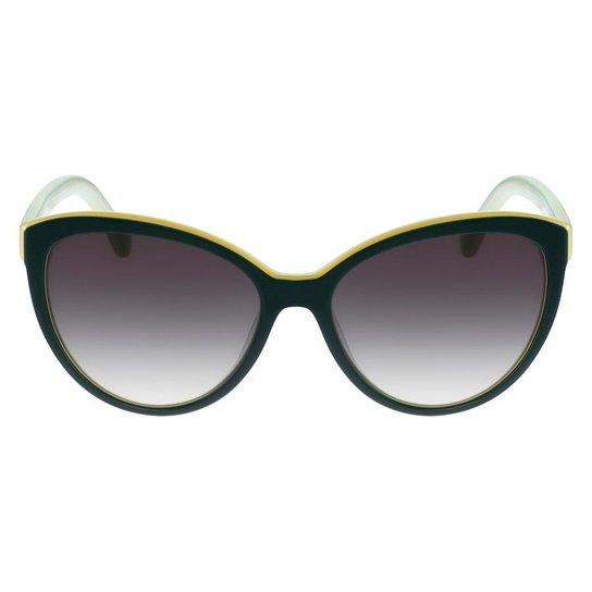 26582e946f25e Armação Óculos de Sol Lacoste L793S 315 56 - Verde - Compre Agora ...