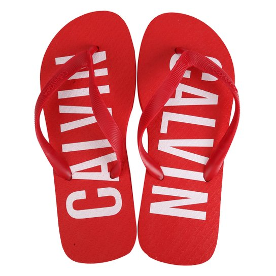 Chinelo Calvin Klein Logo Masculino - Compre Agora   Zattini f2a846c47c
