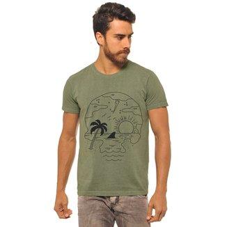 9ea1c380c1899 Camiseta Manga Curta Joss Praia Caveira Masculina
