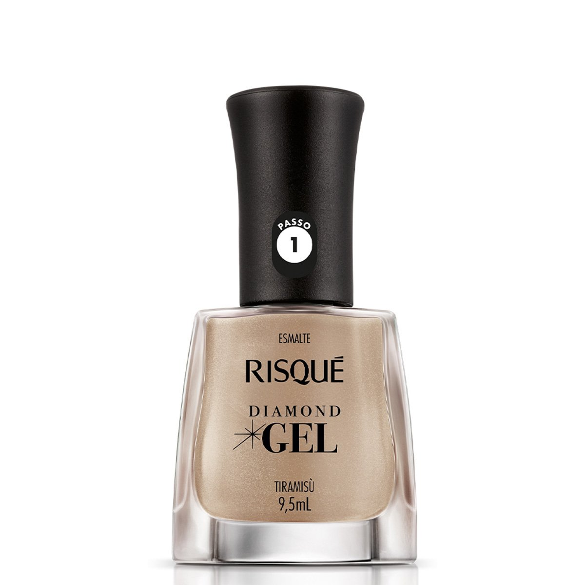 Esmalte Risqué Cremoso Diamond Gel Tiramisu - 9,5ml