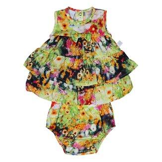 7495577d1b Conjunto Bebê Vestido Malha Estampa Floral Digita