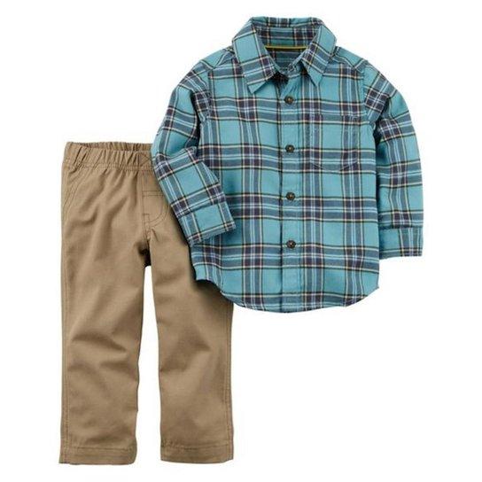 Conjunto Infantil Carter s Camisa e Calça Masculino - Compre Agora ... 33d4bb7cafd