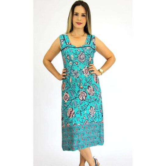 37fc261e1 Vestido Pau a Pique Estampado Feminino - Verde - Compre Agora
