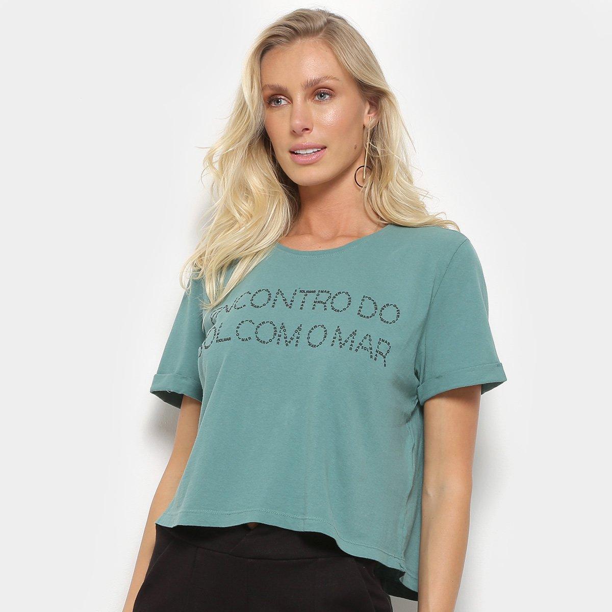 Blusa Cropped Maria Filó Sol E Mar Feminina