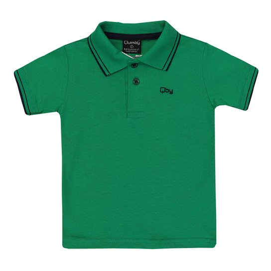 d1704af03 Camisa Polo Infantil Manga Curta Quimby Masculina - Verde - Compre ...