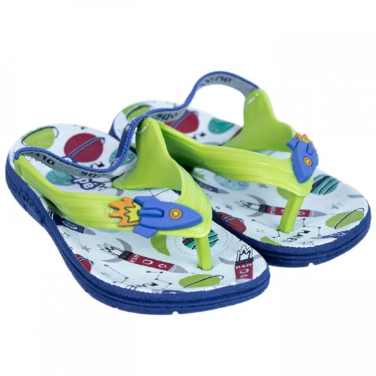 56470fbcf888b Chinelo Infantil Masculino Ortopé Aqua Flex PVC 2107124 - Verde ...