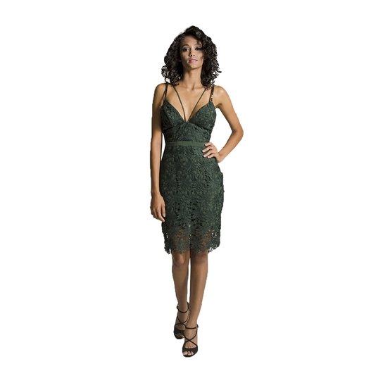 919b9c971 Vestido Midi Renda Colcci - Verde | Zattini