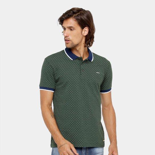 f56d846b76 Camisa Polo Colcci Estampa Poá Masculina - Verde