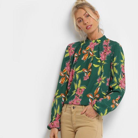 c3ceb57c94 Blusa Colcci Manga Longa Floral Feminina - Verde