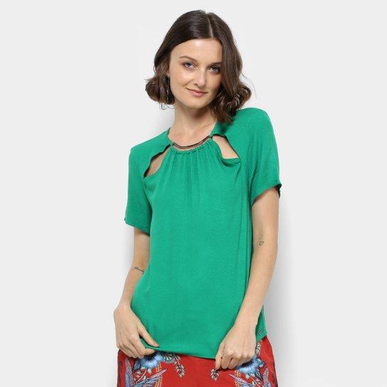 bae96e2d9 Blusa Colcci com Recorte Feminina - Verde - Compre Agora | Zattini