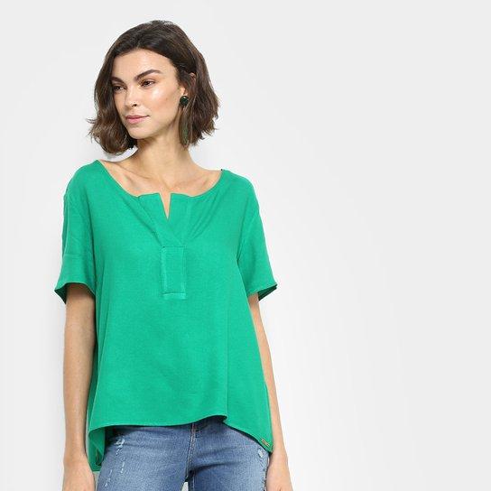 369744f2a Blusa Colcci Bata Gola V Feminina - Verde   Zattini