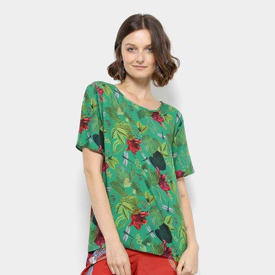 5a678d567 Blusa Colcci Estampada Feminina - Verde - Compre Agora | Zattini