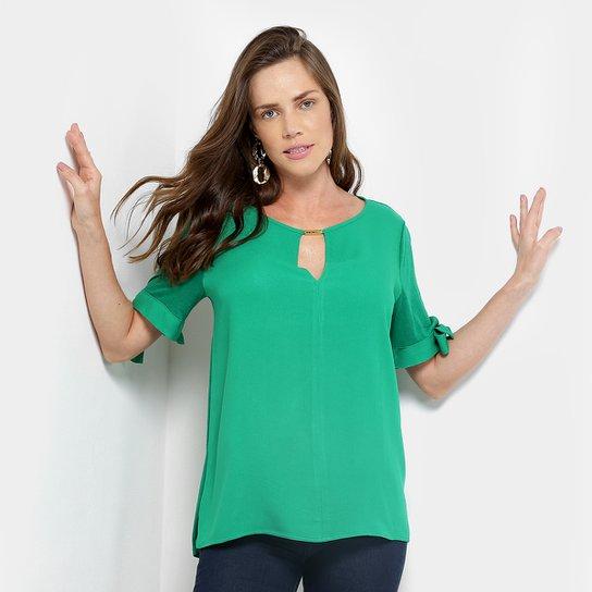 Blusa Colcci Linho Feminina - Verde - Compre Agora   Zattini 8a983d7803