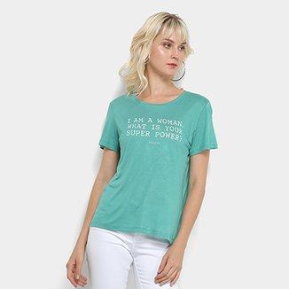 c2ad40e02 Camiseta Colcci Estampa Básica Feminina