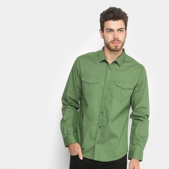 511f1853cf Camisa Forum Manga Longa Masculina - Verde - Compre Agora