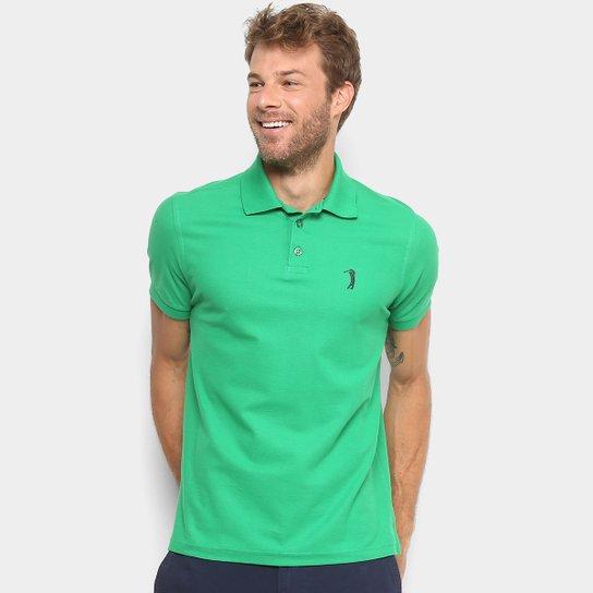 f6b24a77e4 Camisa Polo Aleatory Piquet Bordado Masculina - Verde
