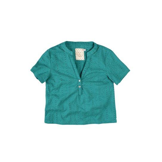 Camisa Decote V Vazada Malwee Feminina - Compre Agora   Zattini c3ab7ca3d2