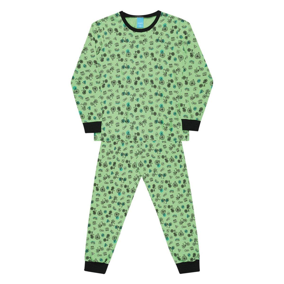Pijama Infantil Longo Kamylus Meia Malha Estampado