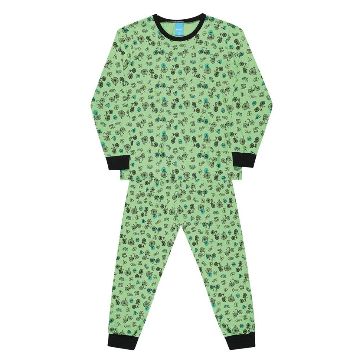 Pijama Infantil Kamylus Estampado Longo