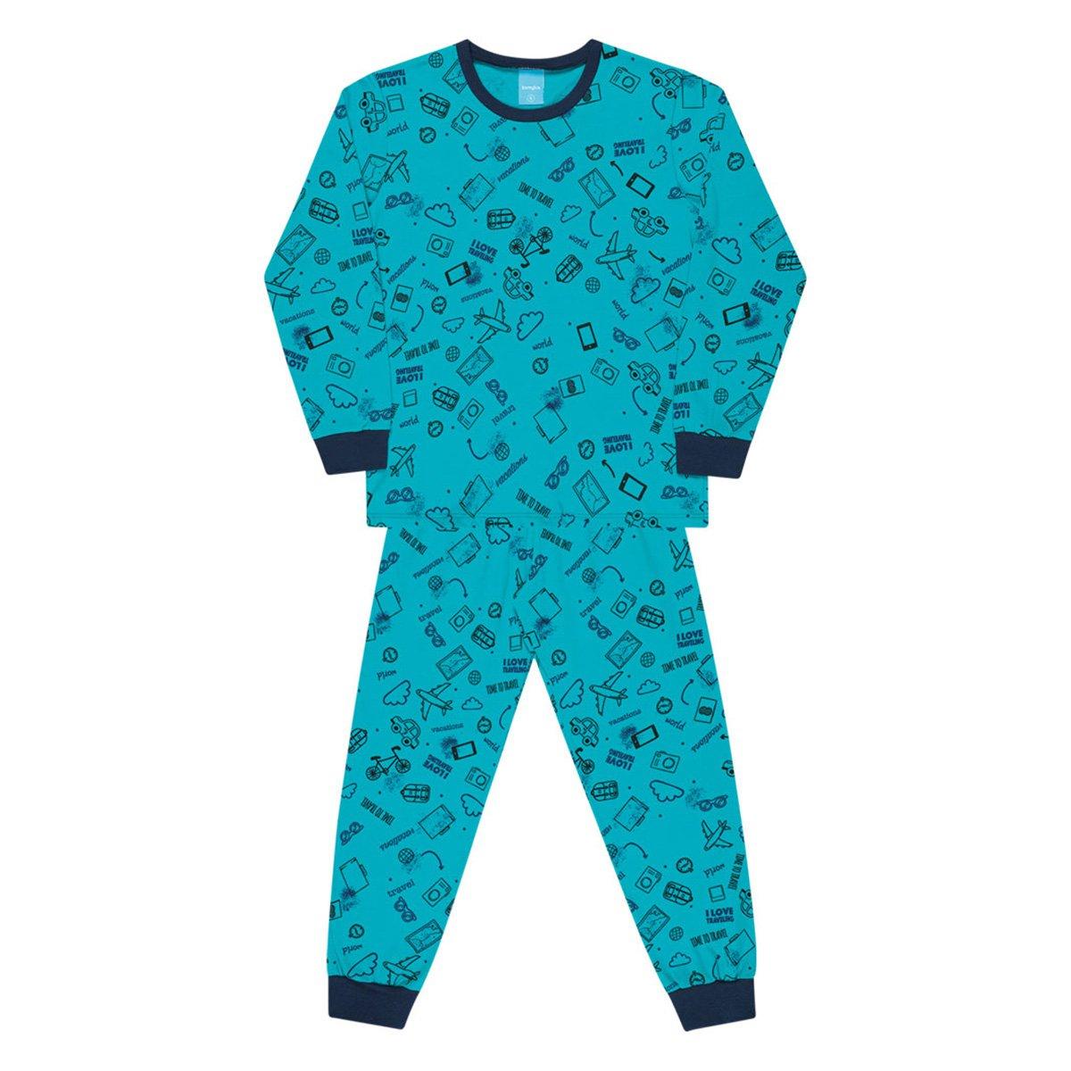Pijama Bebê Kamylus Estampado Longo