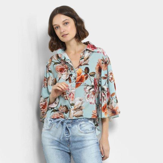 656507967c Camisa Lança Perfume Estampada Floral Feminina - Compre Agora