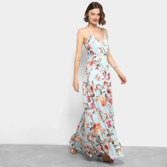 692418cf2 Vestido Longo Lança Perfume Transpassado | Zattini