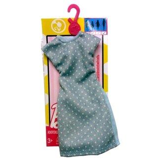 2eef769a5 Roupinha para Boneca Barbie - Look Completo - Vestido Tubinho com Poás -  Mattel