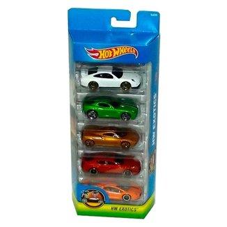 01f6db746 Carrinhos Hot Wheels - Pacote com 5 Carros - HW Exotics - Mattel