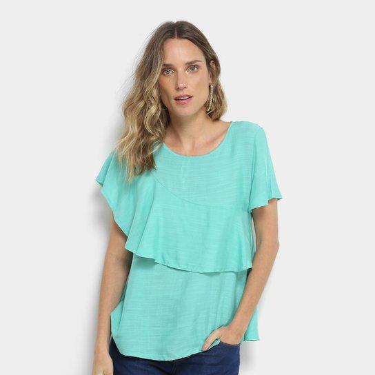 98b1112ae Blusa Acrobat Babado Feminina - Verde - Compre Agora