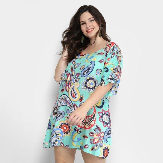 22a332388 Vestido Holin Stone Curto Viscose Floral - Compre Agora