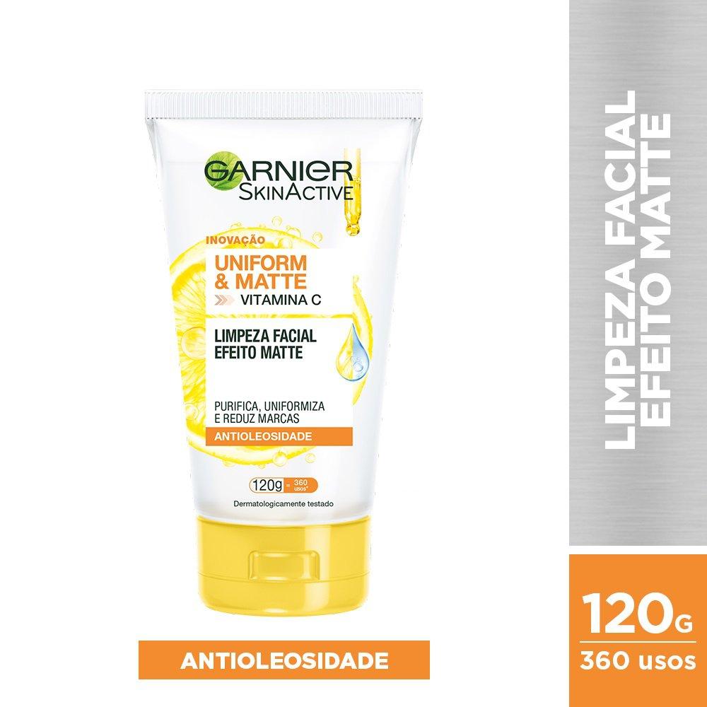 Limpeza Facial Garnier Skin Uniform & Matte - 120g