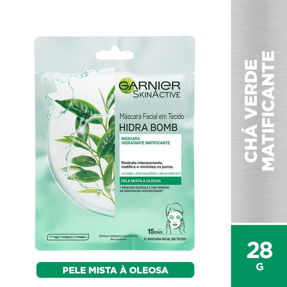 Máscara Facial Matificante Garnier Skin Chá Verde Hidra Bomb - 32g