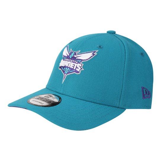 Boné New Era NBA Charlotte Hornets Aba Curva Primary - Verde ... 31a8be3e91b